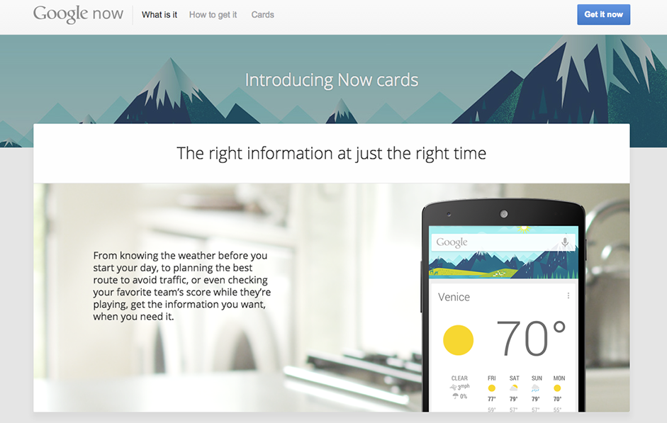 Material Design - Web Design Trends - Material Design - Google Now
