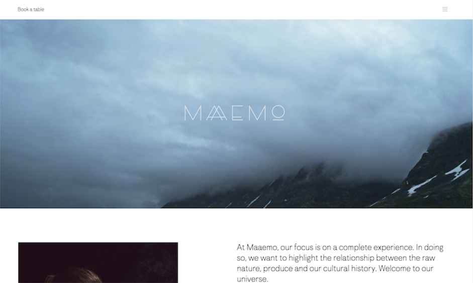 Hero Image - Web Design Trends - Maaemo