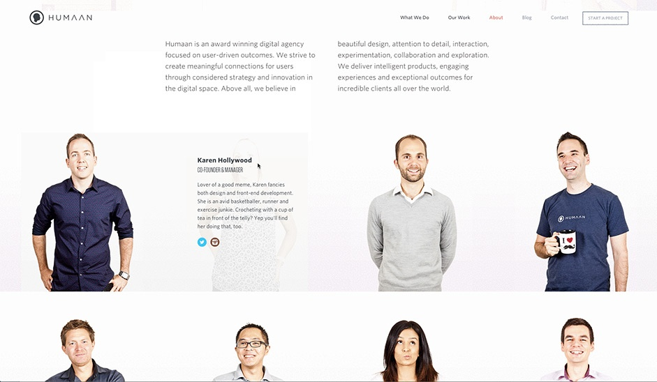 Hover Animation - Web Design Trends - Humaan