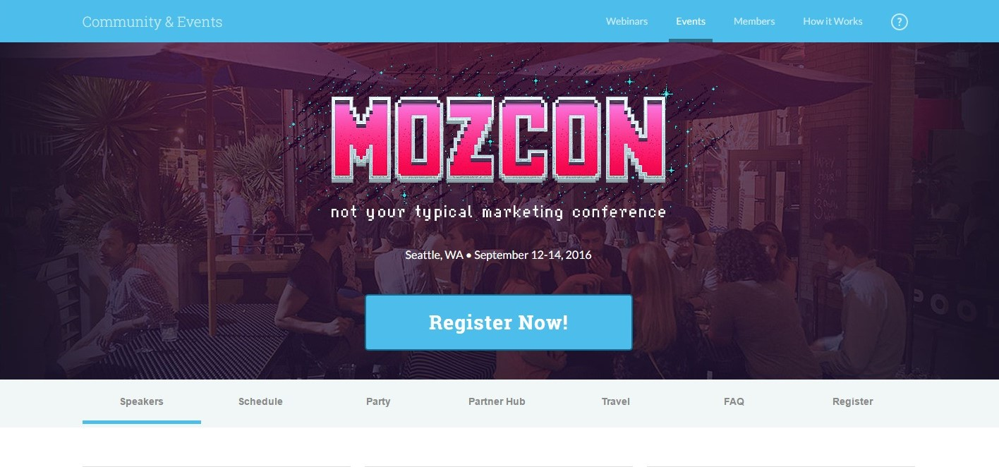 Content Marketing Conference MozCon