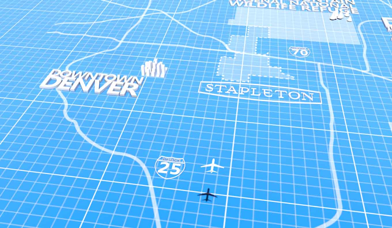 clip from the pitch video we designed for forest city's Stapleton, CO project
