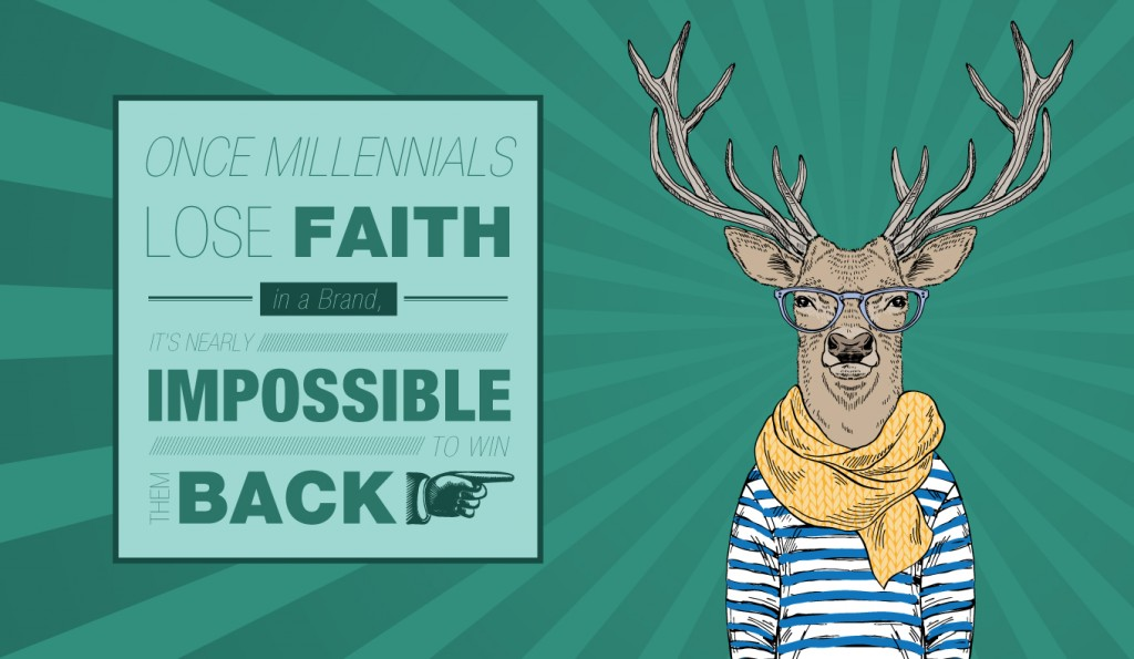 sales trends: once millennials lose faith in a brand, it's nearly impossible to win them back